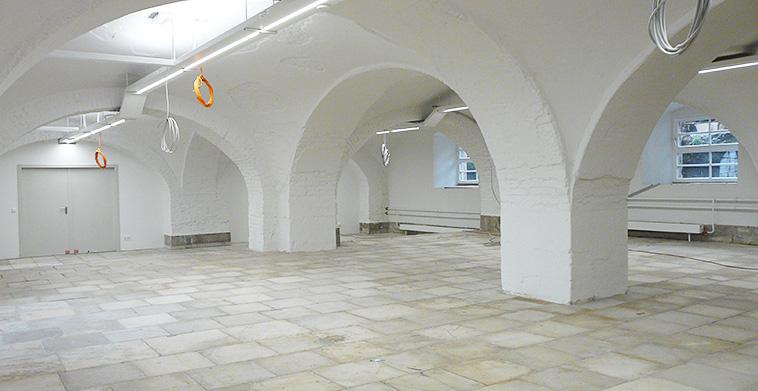 Sanierung Gewölberäume, geschlämmtes Ziegelmauerwerk