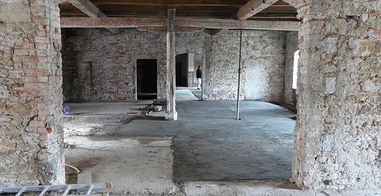 Entkernung Obergeschoss Brauereigebäude