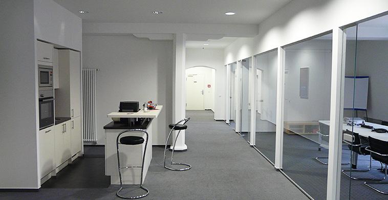 Einbau neuer Büroräume im Obergeschoss Brauereigebäude