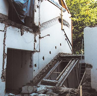 Abbruch altes Treppenhaus