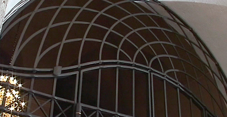 Kunstschmiedegittertor Detail