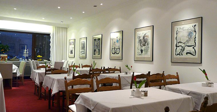 Frühstücksraum mit Bildergalerie